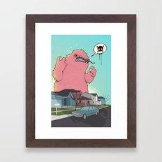 Die like the Dinosaurs Framed Art Print