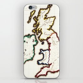 Vintage Map of The British Isles (1860) iPhone Skin