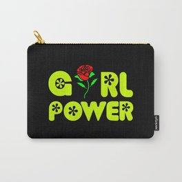 girl power quote with beautiful flower Carry-All Pouch