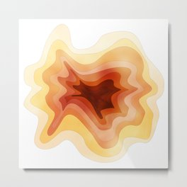 ORANGE TOPOGRAPHY Metal Print