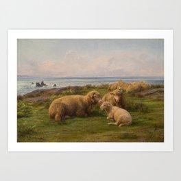 Sheep by the Sea by Rosa Bonheur, 1865 Art Print