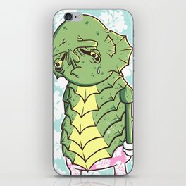 The Sadness Of The Creature iPhone Skin