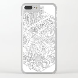 City and the junge Clear iPhone Case