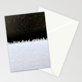 Spikey snow detail Stationery Cards
