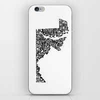 maryland iPhone & iPod Skins featuring Typographic Maryland by CAPow!