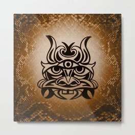 Vicious Tribal Mask Snakeskin 005 Metal Print
