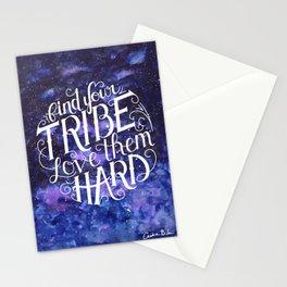 Find Your Tribe Watercolor Stationery Cards