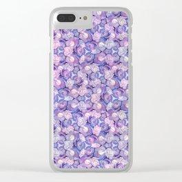 Botanical In Blue Clear iPhone Case
