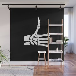 Skeletal Thumbs Up Icon Wall Mural