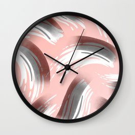 Pink Party Pattern Wall Clock