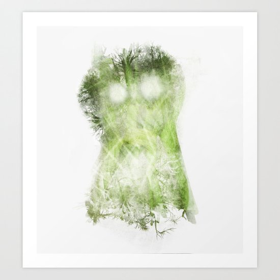 phantom vegetable Art Print