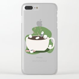 Marshmallow Hot Tub Clear iPhone Case