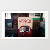 coca cola Art Prints featuring Coca Cola by Bust it Away Photography