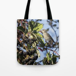 Female Purple Finch Tote Bag