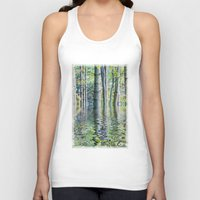 sia Tank Tops featuring SERENE GREEN SCENE by Catspaws