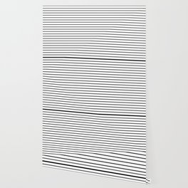 white lines, black and white stripes - striped design Wallpaper