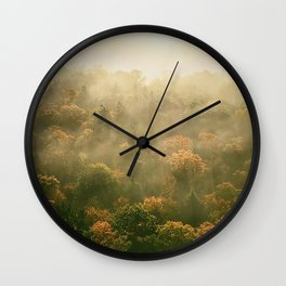Clouds Caught in Trees Wall Clock