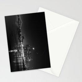 Detroit Skyline at night Stationery Cards