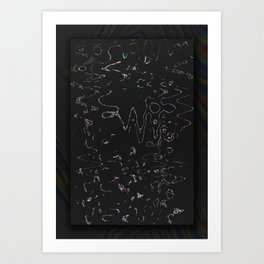 NEW BLACK Art Print