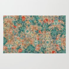 Study in Teal and Peach Rug