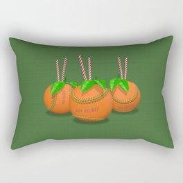 Sun Delight - green Rectangular Pillow