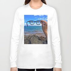 Hawaii Sunglasses Palmtrees Long Sleeve T-shirt