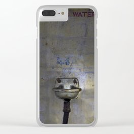 Drinking water Clear iPhone Case