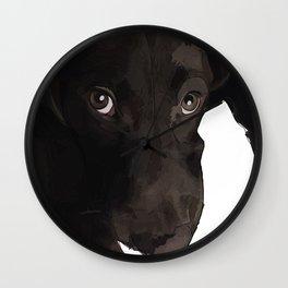 Chocolate Labrador Puppy Wall Clock