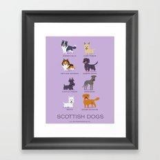 SCOTTISH DOGS Framed Art Print