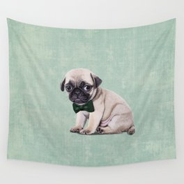 Angry Pug Wall Tapestry