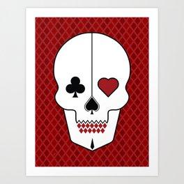Skull Cards Art Print