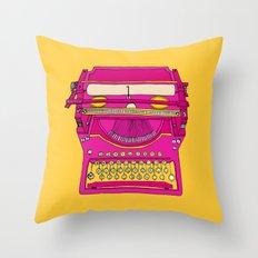 Typewriter III Throw Pillow