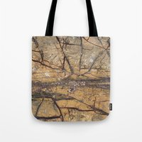 white marble Tote Bags featuring Marble by Santo Sagese
