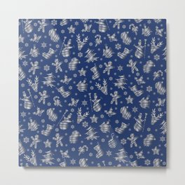Seamless Christmas pattern Metal Print