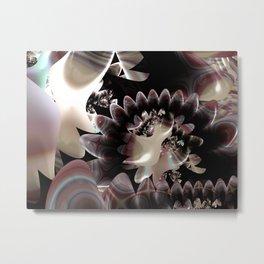 Watermelon Crystal Fractal Metal Print