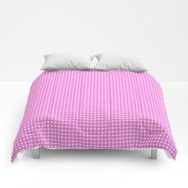 Classic Rockabilly Gingham in Bubblegum Pink Comforters