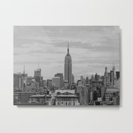 New York City View from SoHo, in Black&White Metal Print