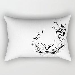 Tiger - black and white Rectangular Pillow