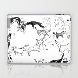 Dogs say Hello Laptop & iPad Skin