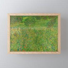 """Gustav Klimt """"Orchard or Field of flowers"""" Framed Mini Art Print"""