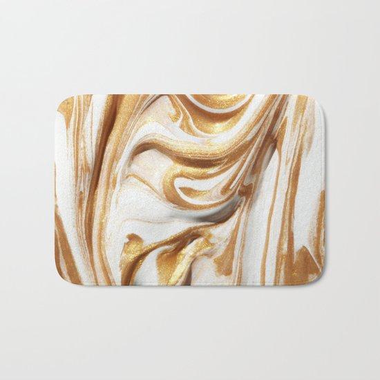 MARBLE CREAM Bath Mat