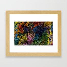 Henna Print Framed Art Print