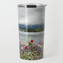 The flowers at Lake Zurich Travel Mug