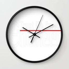 Trust Me I'm An Engineer Tee Wall Clock