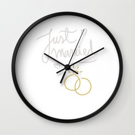 Just Married 10 Years Ago Marriage Wall Clock