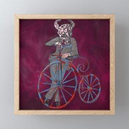 Barry Gangster Farthing - Red Framed Mini Art Print