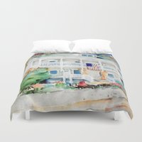 american beauty Duvet Covers featuring American Beauty by Bowles Fine Paintings