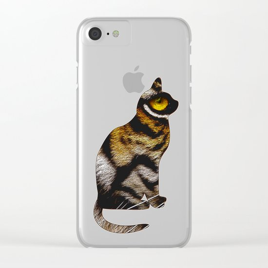 THE TIGER WITHIN 2 Clear iPhone Case