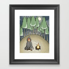Campfire Girl Framed Art Print
