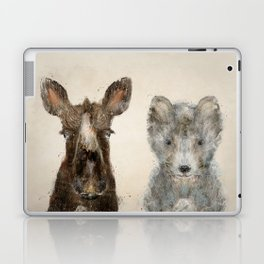 the little wolf and little moose Laptop & iPad Skin